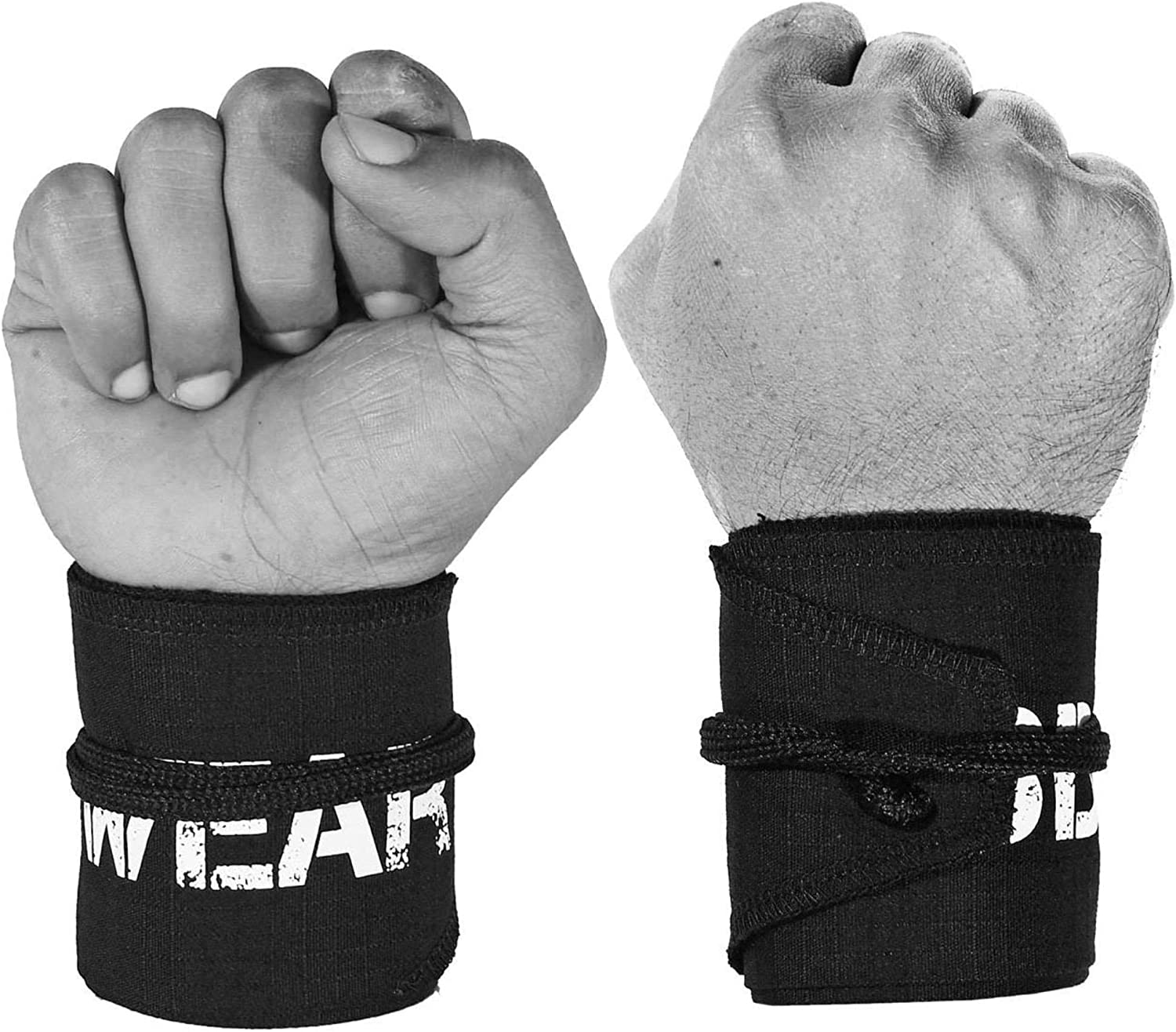 TraininGear Wrist Wraps White Flowers Pink Paracord Crossfit Support Weightlifting Lifting Workout Wrap Training Gear Paracord