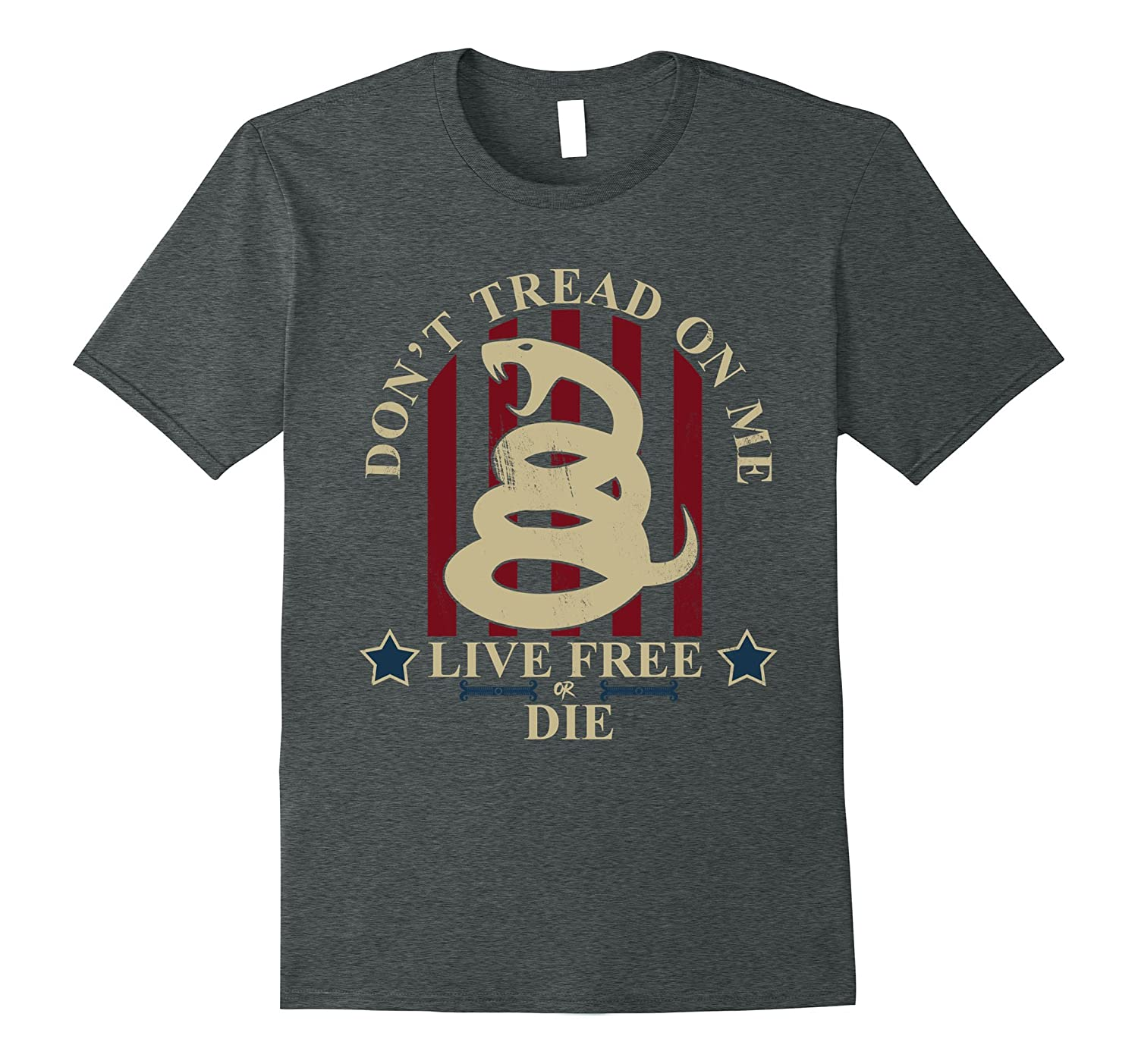 Don't Tread On Me Live Free or Die T-Shirt for Men and Women-FL