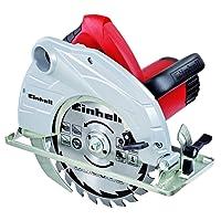 Einhell Scie circulaire TC-CS 1400/1 (1400 W, Régime 5200 trs/min, Capacitéde coupe max. 90°/45° : 66/45 mm, Lame  Ø190 x Ø30 mm, 24 dents,Démarrage progresif,  Livré avec butée parallèle et clé pour changement de lame)