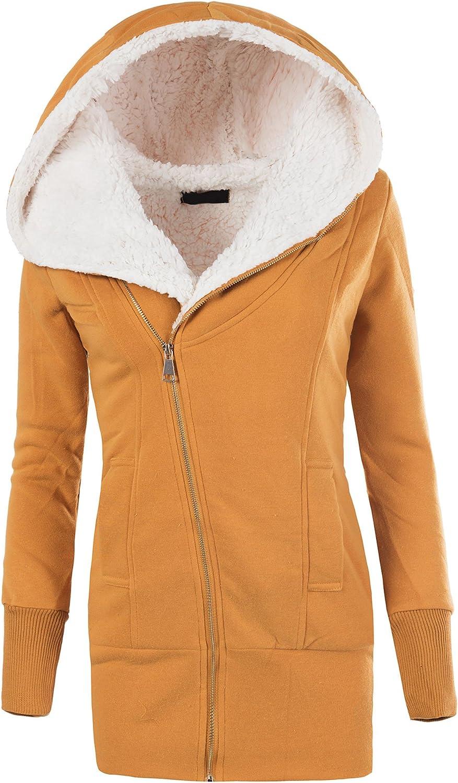 rexoo damen jacke mantel winterjacke kapuze gefüttert sweatjacke zipper hoodie