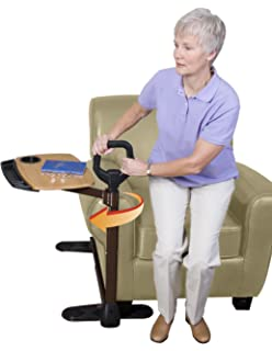 Able Life Able Tray Table   Bamboo Swivel TV Laptop Tray Table For Lift  Chair Or