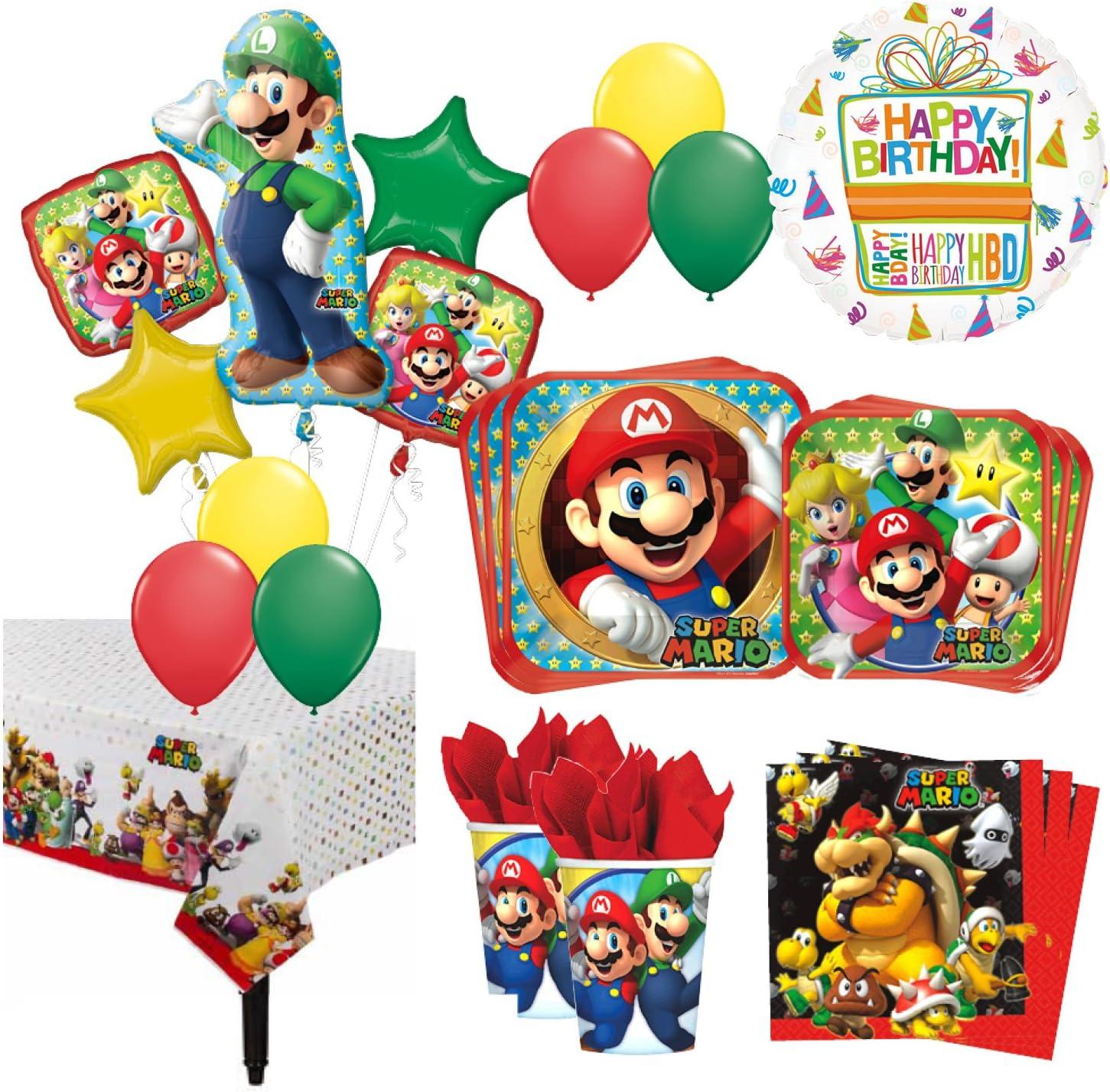 Super MARIO KART Tableware Balloons /& Decorations Birthday PARTY RANGE