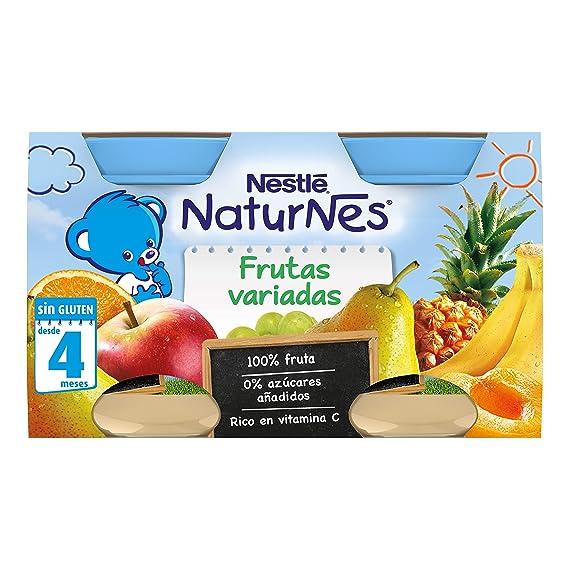 NESTLÉ Purés tarrito de puré de fruta, variedad Frutas Variadas, para bebés a partir