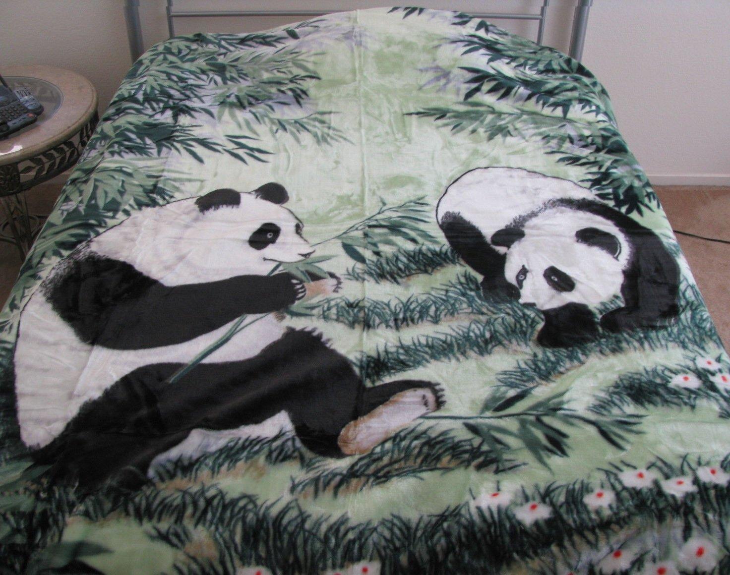Korean Style Queen Blanket Panda