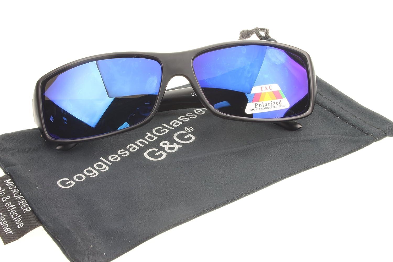 G & G超軽量ミラー釣り偏光サングラス  Blue_Black_Frame B017WP55F0