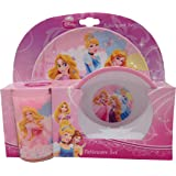Disney Ensemble de 3 pièces en mélamine Motif princesses de Disney