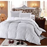 Royal Hotel's 300 Thread Count Queen Size Goose Down Alternative Comforter 100% Cotton 300 TC - 750FP - 70OZ - White Solid