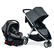 Britax B-Lively & B-Safe Ultra Travel System, Gris