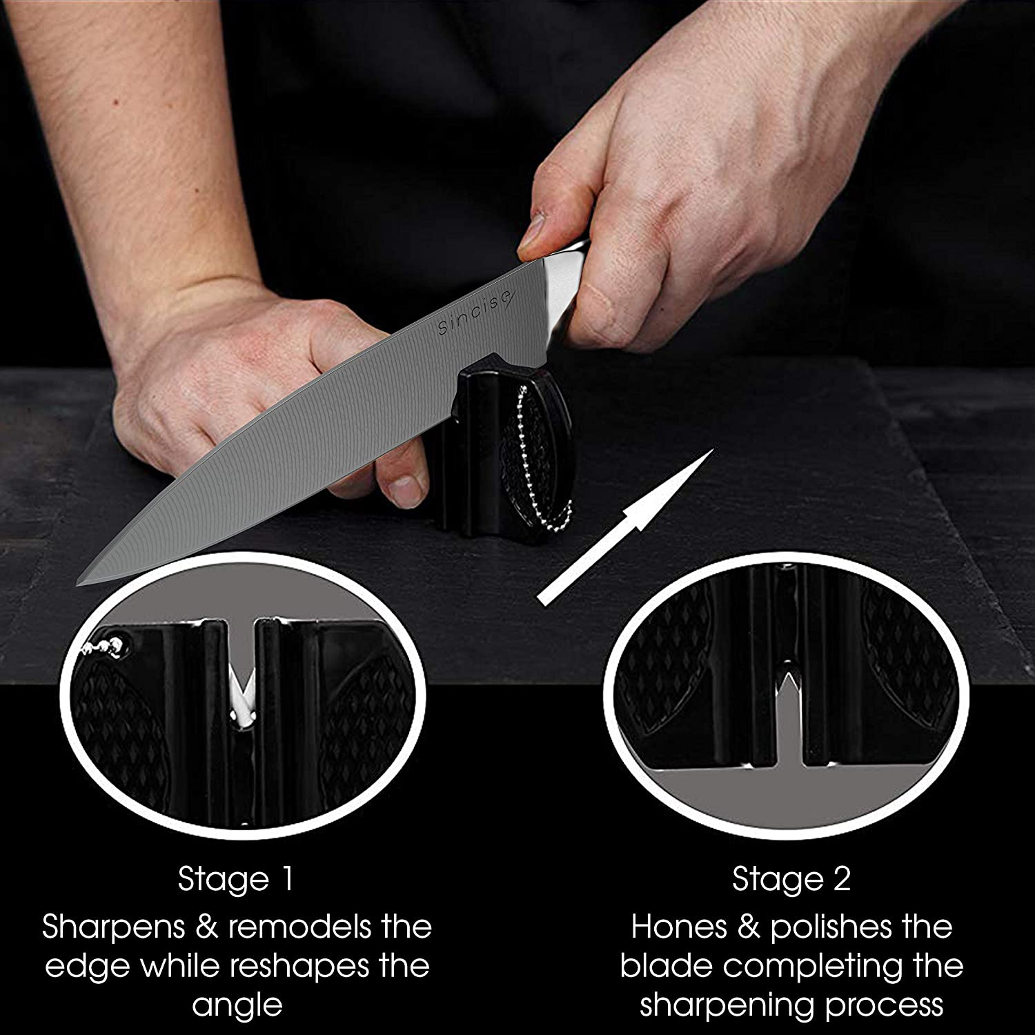 Amazon.com: Cuchillo Sincise Chef de 7.9 in – Cuchillo ...