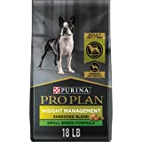 Purina Pro Plan Small Breed Weight Management Dog Food, Shredded Blend Chicken & Rice Formula - 18 lb. Bag