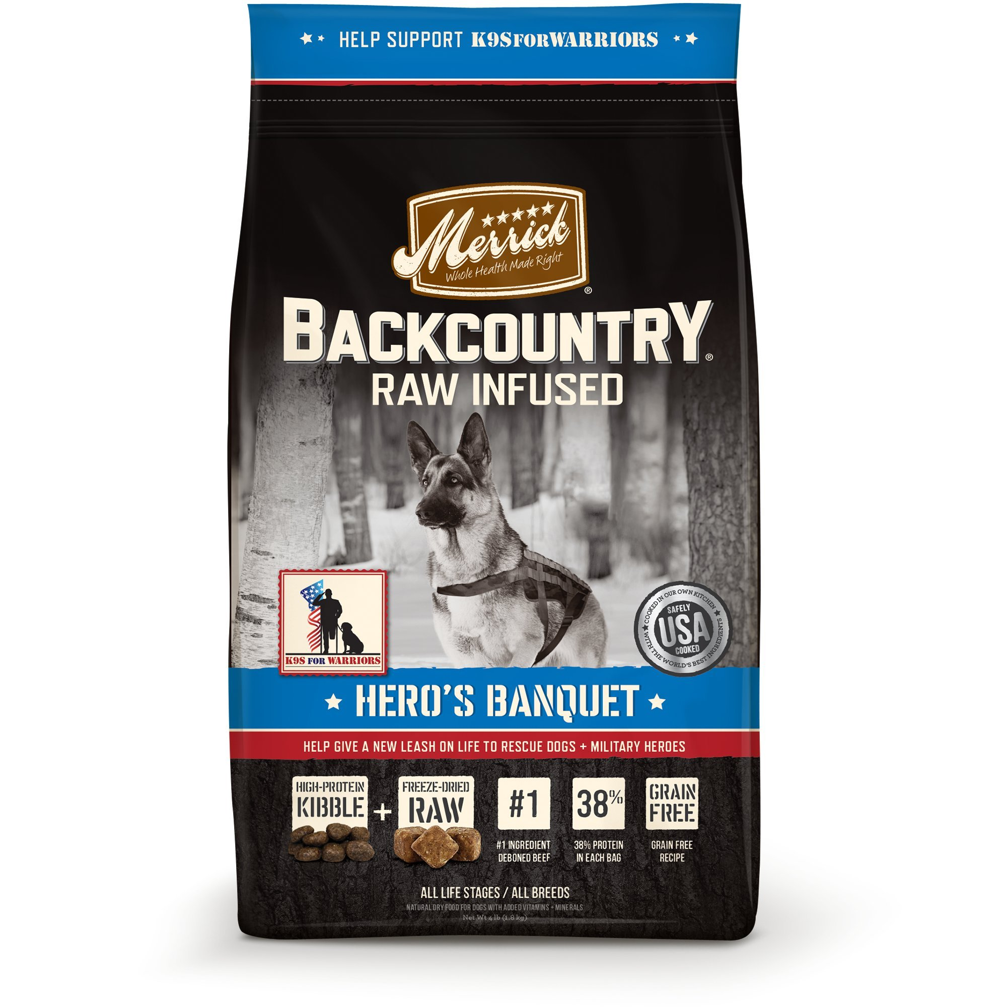 Merrick Backcountry Grain Free Hero'S Banquet Dry Dog Food, 22 Lbs. by Merrick (Image #1)