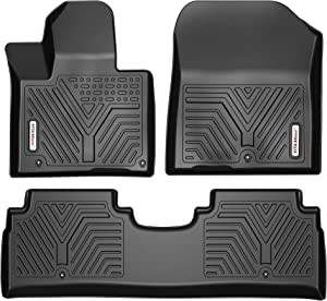 YITAMOTOR Floor Mats Compatible with 2016-2021 Kia Sorento, Custom Fit Black TPE Floor Liners 1st & 2nd Row All-Weather Protection