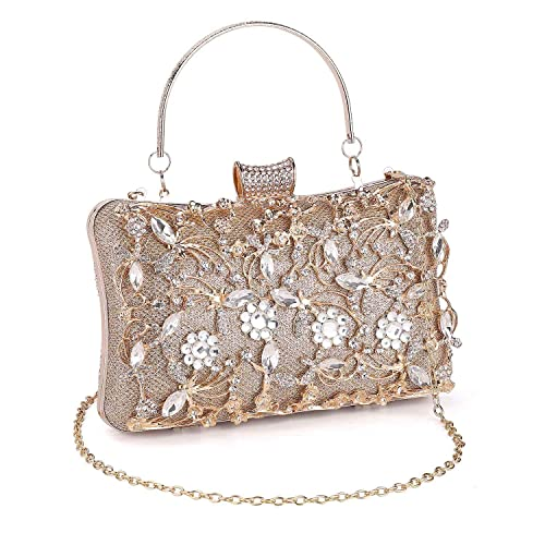 Women/'s Beaded Clutch Bags Ladies Crystal Evening Prom Party Wedding Purse Sale