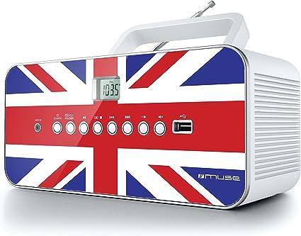 Muse M 28 Uk Cd Radio Tragbar Pll Ukw Radio Mw Tuner Senderspeicher Usb Mp3 Wiedergabe Netz Oder Batteriebetrieb Uk Audio Hifi
