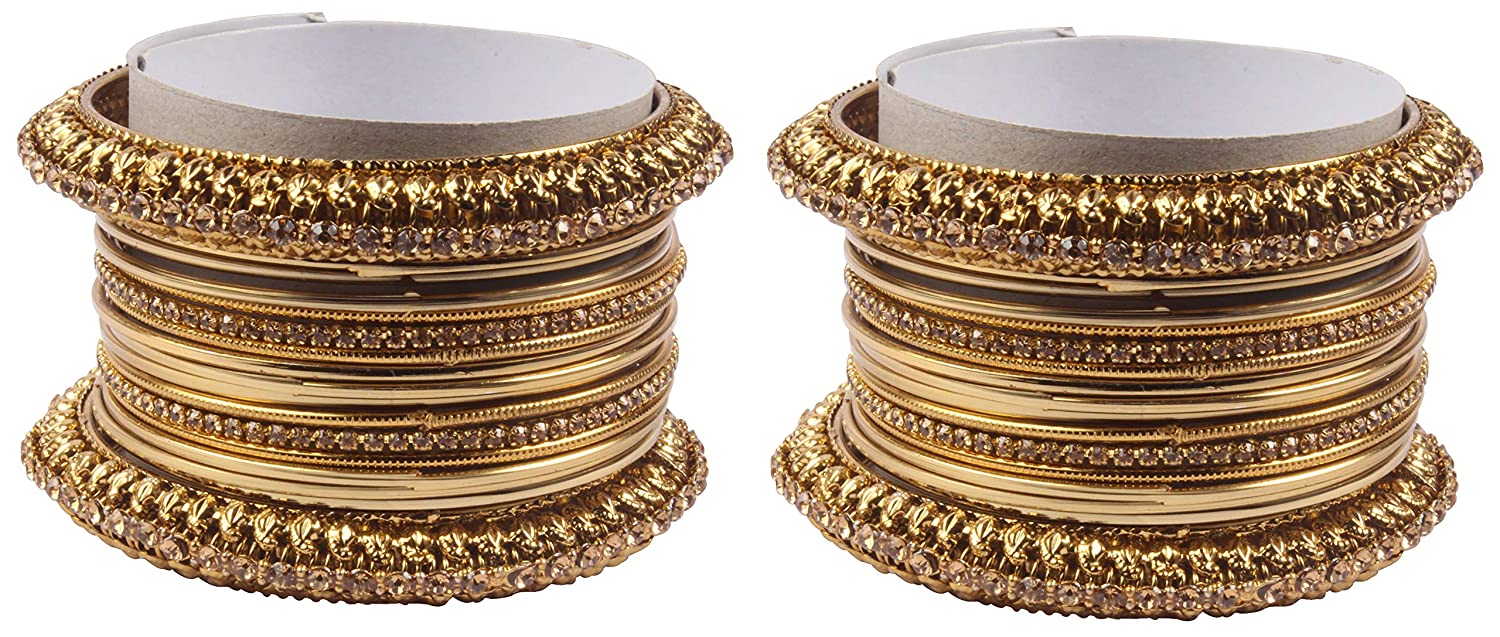 Shiv/_Collection Bollywood Fashion Style Gold Plated Indian Bangles Party wear Jewellery