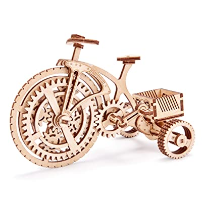Wood Trick 3D Wooden Bicycle Toy Model - Bicycle Model Kit Mechanical Model to Build - 3D Wooden Puzzle, Assembly Model, ECO Wooden Toys, Best DIY Toy - STEM Toys for Boys and Girls: Toys & Games