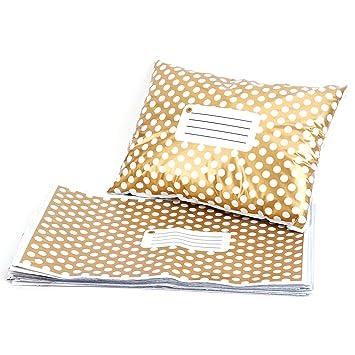 50ST Sobres Bolsas para envío envío tueten opaca Golden Polka Dots 230 x 305 mm