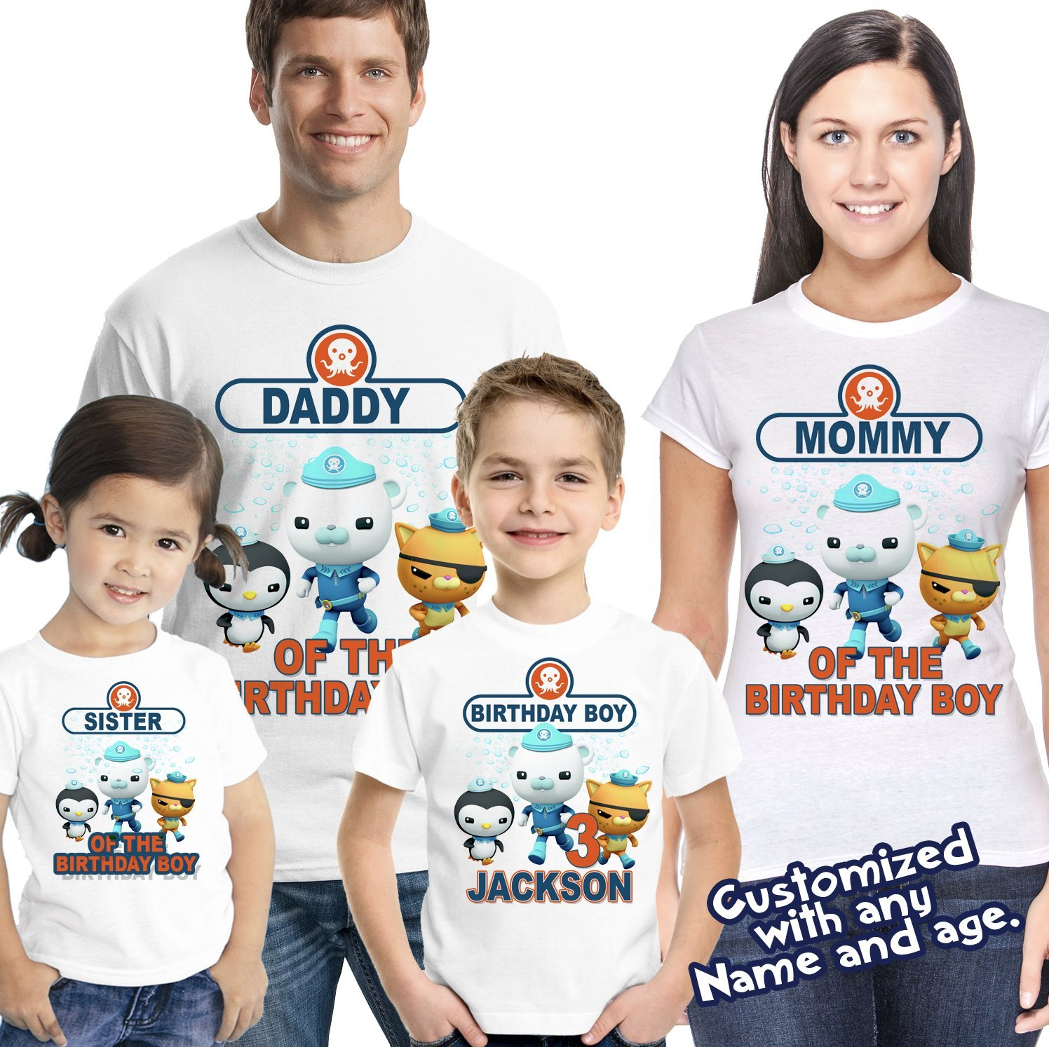 Octonauts Birthday Shirt. Personalized Birthday Shirt with Name and Age, Personalized Captain Barnacle Birthday TShirt, Octonauts Party
