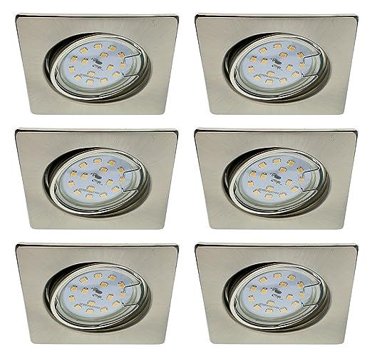Trango 6er Conjunto de focos empotrables LED Focos de techo empotrados Plafones TG6729-062S-