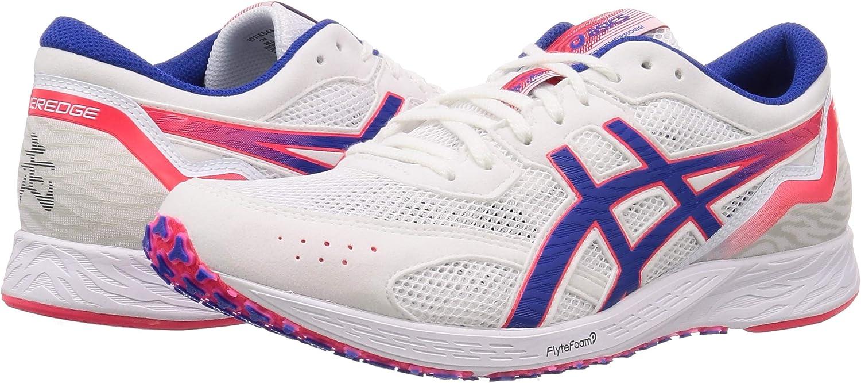 Asics Tartheredge Zapatillas de Carretera o de Atletismo Ultraligeras con Soporte Neutro para Hombre Blanco Celeste Rojo: Amazon.es: Zapatos y complementos
