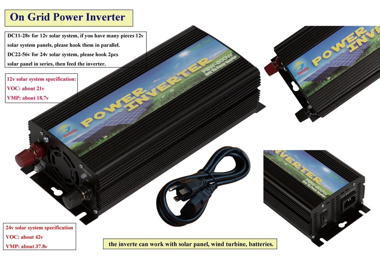 Solinba 500w Solar Grid Tie Inverter Pure Sine Wave Dc11 How To Build A100 Watt Circuit Homemade 28v Ac90 130v For 12v System Usa Plug Garden Outdoor