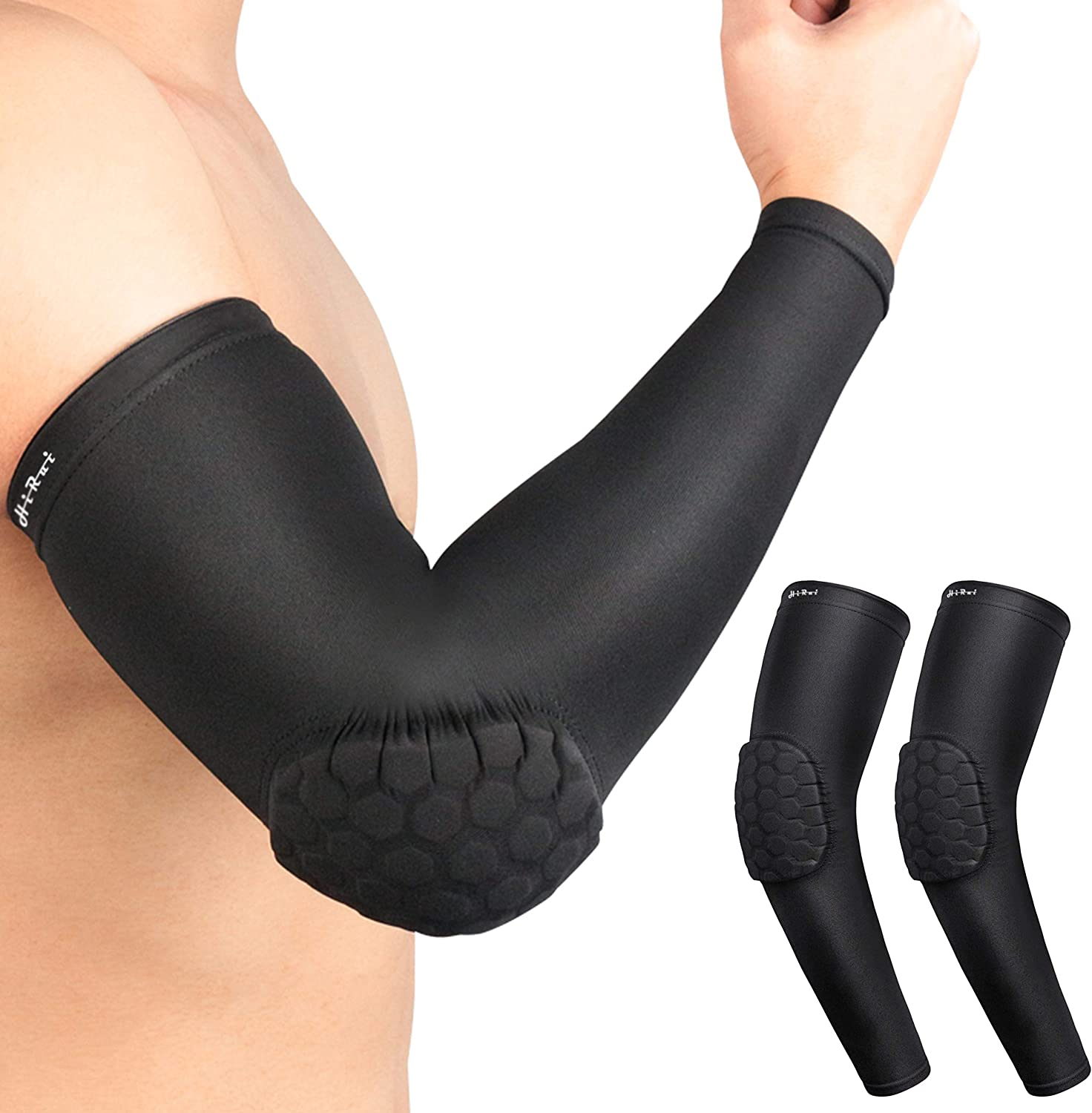 Sports Arm Sleeve Basketball Shooting Cycling Compression Elbow Protector Pad