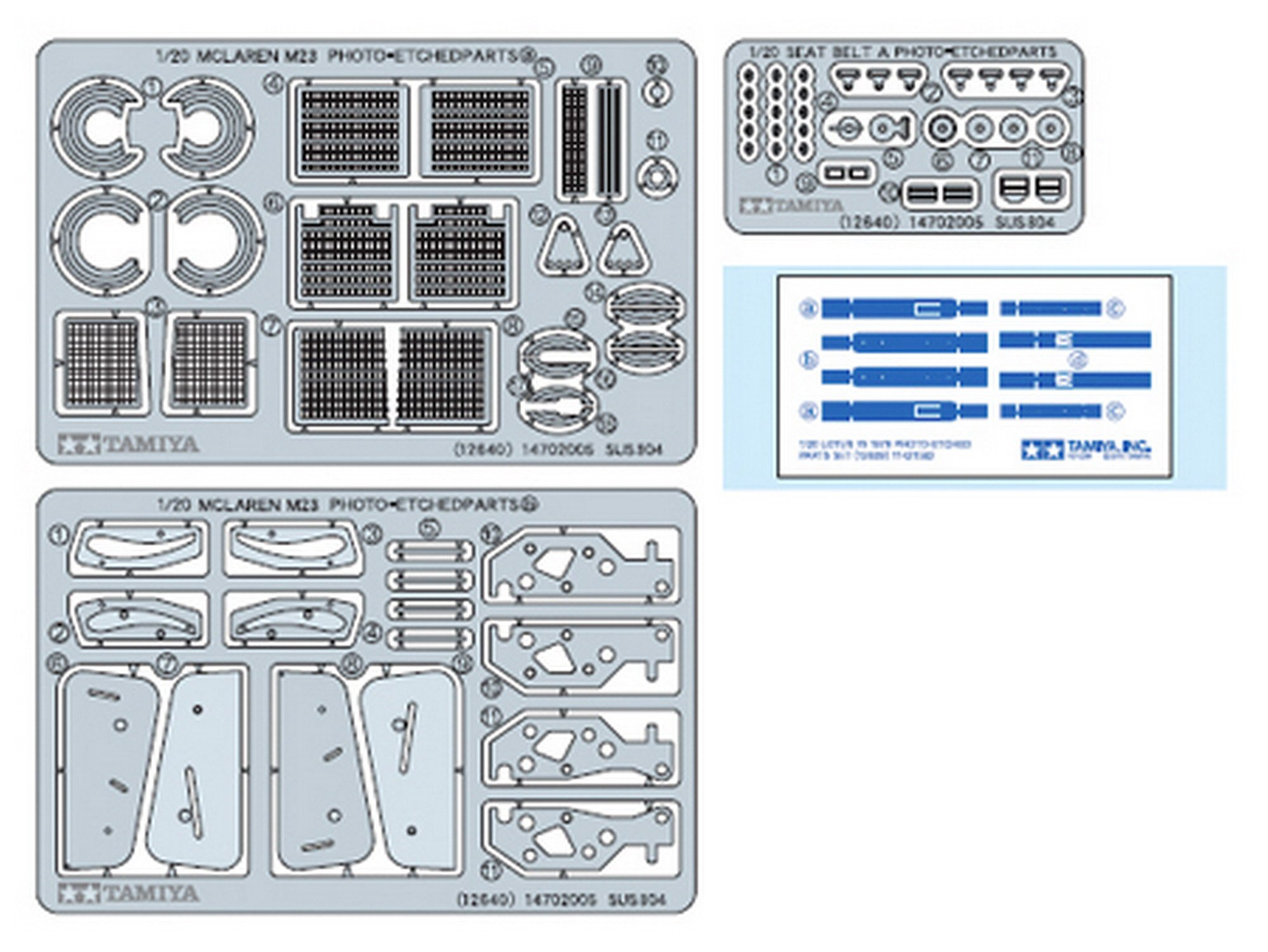 The Hobby Company Tamiya 1:20 Mclaren M23 1976 Photo Etched Parts