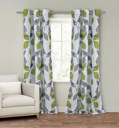 Amazoncom Set Of Two 2 Window Curtain Panels 110 X 84