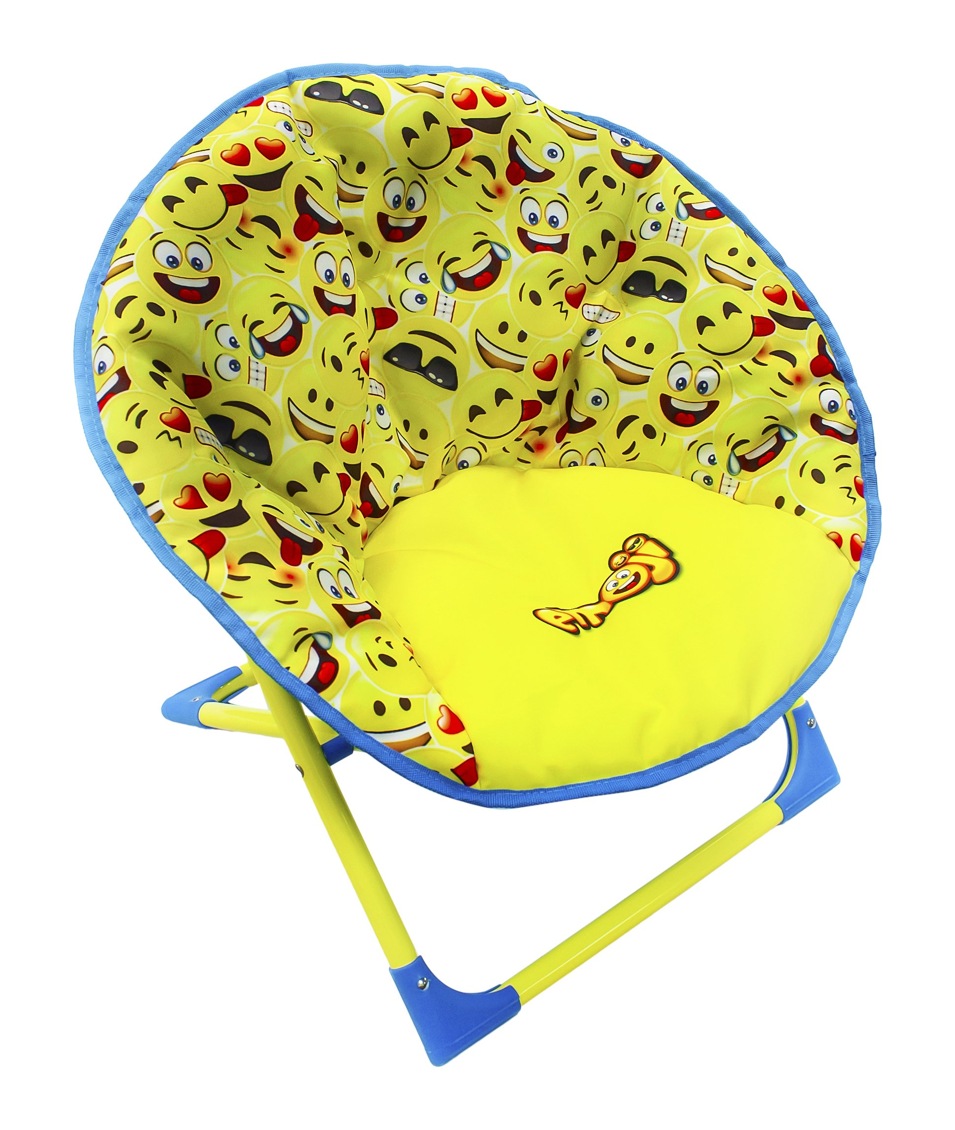 HGL Fun Folding Emoji Moon Chair