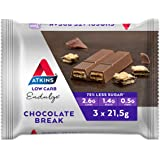 Atkins Endulge Chocolate Break Bars | Keto Friendly Bars | 3 x 21.5g Low Carb Chocolate Bars | Low Carb, Low Sugar, High…