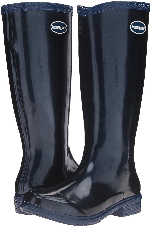 Havaianas Women's Galochas Hi Metallic Rainboot Rain Boot B01H6RNQKA 38 BR/8 M US Navy Blue/Metallic