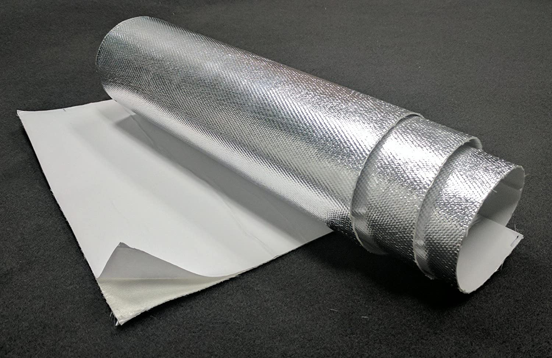 6.5 SQ Ft. CaliBikerClub Aluminum Heat Shield with Fiberglass and Adhesive Backing Heat Barrier 24x39
