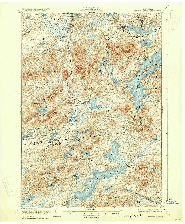 Amazon.com : YellowMaps Tupper Lake NY topo map, 1:62500 Scale, 15 X ...