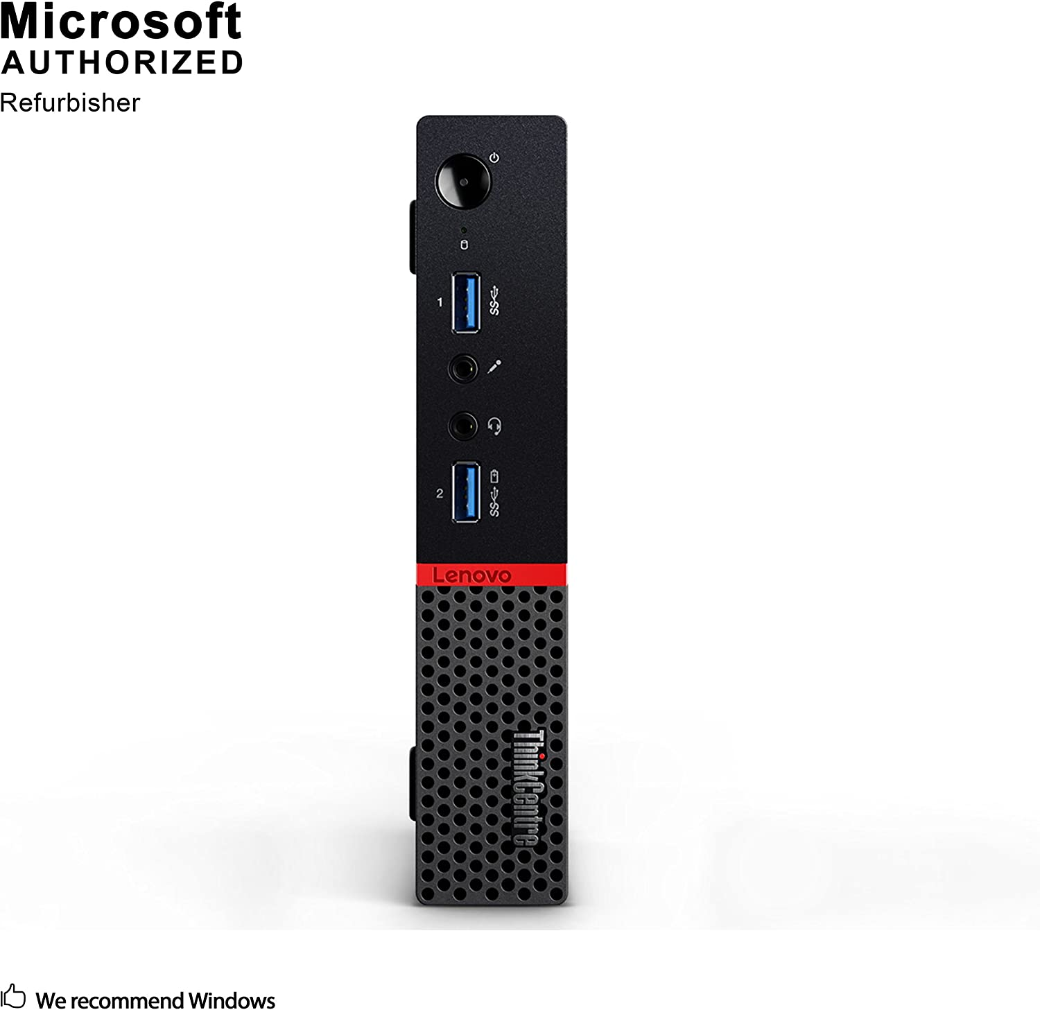 Lenovo ThinkCentre M900 Tiny Business PC, Intel Quad Core i5 6600T up to 3.5GHz, 8G DDR4, 512G SSD, WiFi, BT 4.0, Windows 10 Pro 64-Multi-Language Support English/Spanish/French(Renewed)
