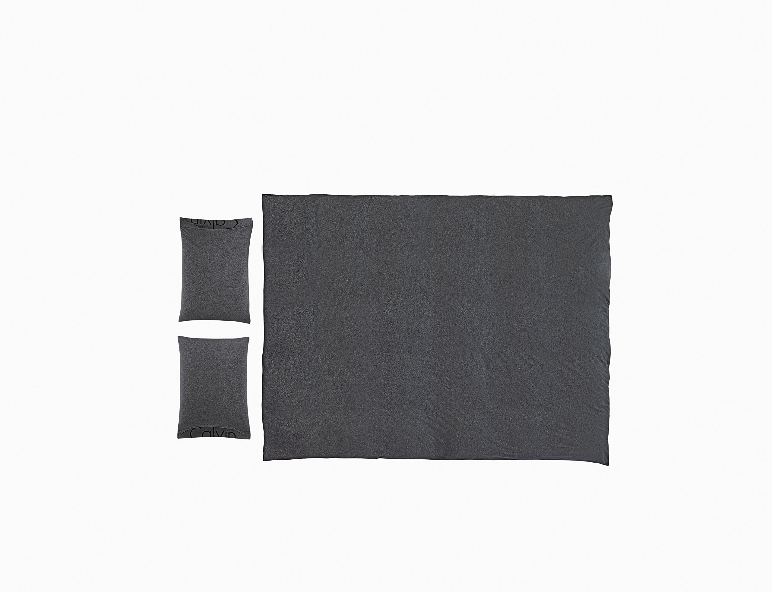 Calvin Klein Home Modern Cotton Body Duvet Cover, King, Charcoal by Calvin Klein (Image #2)