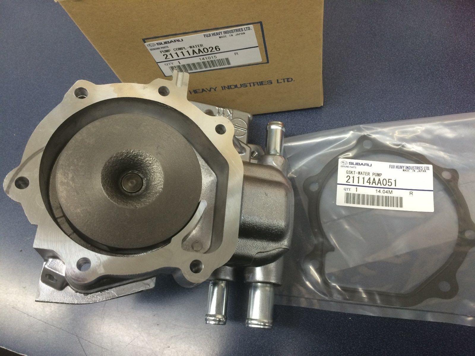 Genuine Hi Flow Subaru Turbo Water Pump Kit WRX Impreza STi Forester Legacy  EJ205 EJ207 EJ255 EJ257 with gasket