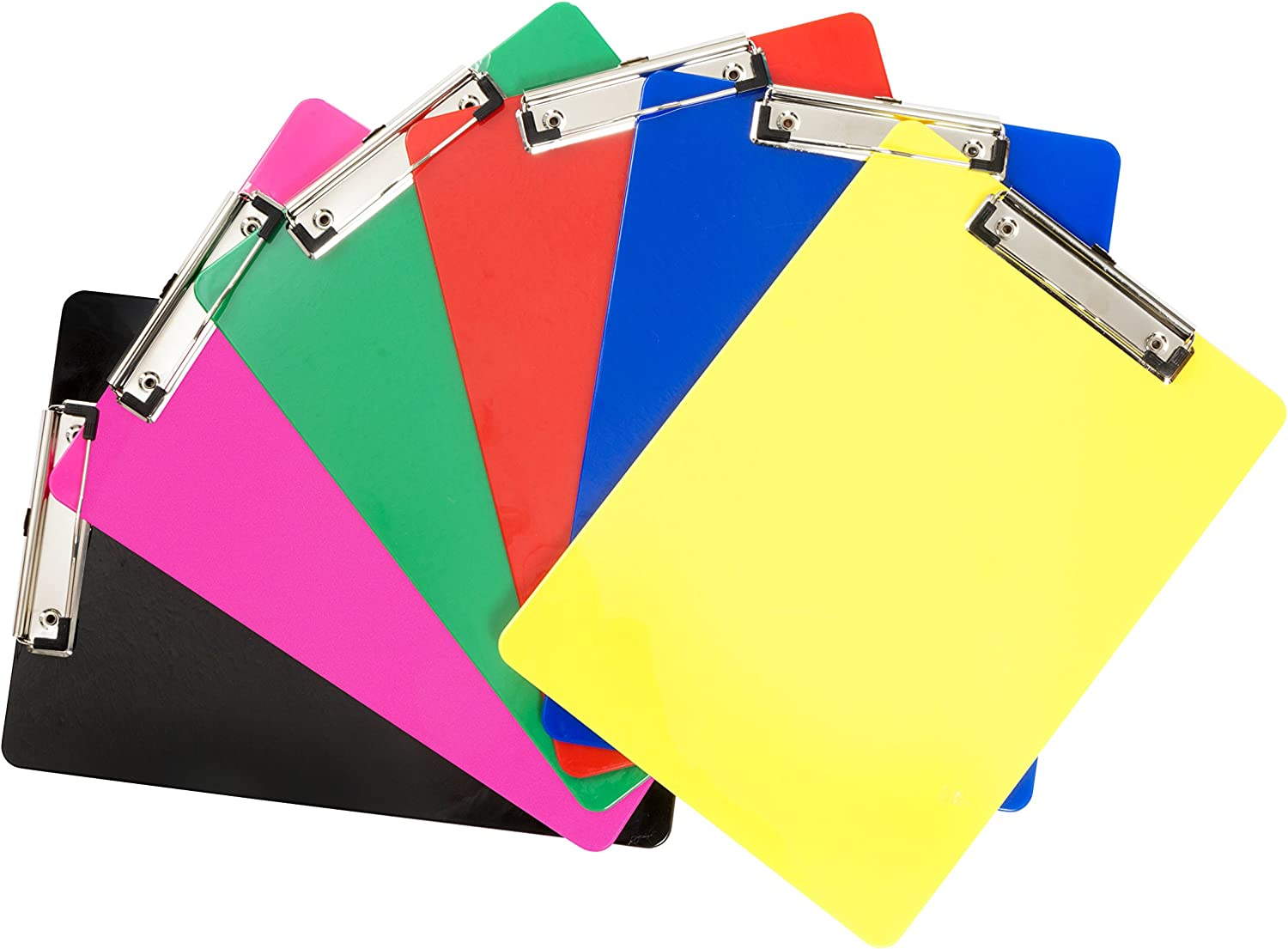 Plastic Colorful Clipboard,Pretty Cute Clipboard Memo Size Pocket Clip Boards 5x7 Inch A6 Clipboards for classrooms Restaurants Doctor Offices Set of 5 Offices