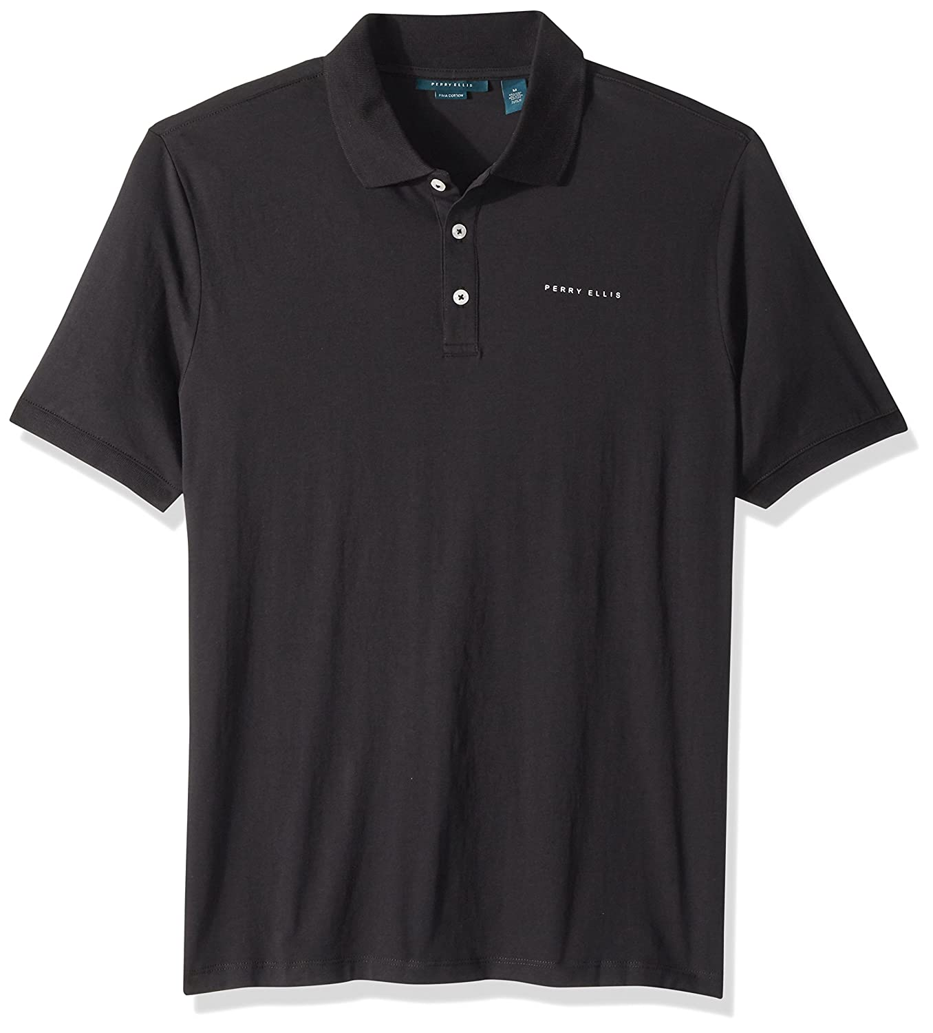 Perry Ellis Mens Logo Pima Cotton Polo