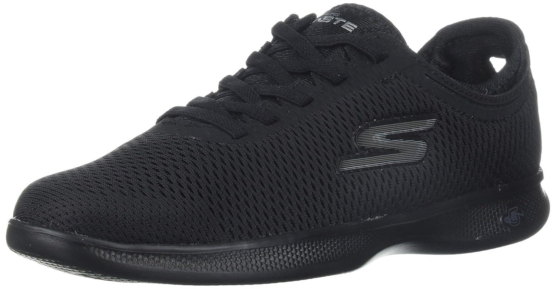 Skechers Women's Go Step Lite-Persistence Sneaker B0721TP9M1 9 W US|Black