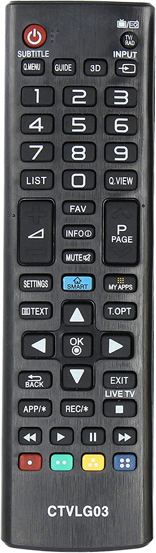Common TV CTVLG02 mando a distancia universal para control remoto de televisores LG, sin configuración, ergonómico: Amazon.es: Electrónica