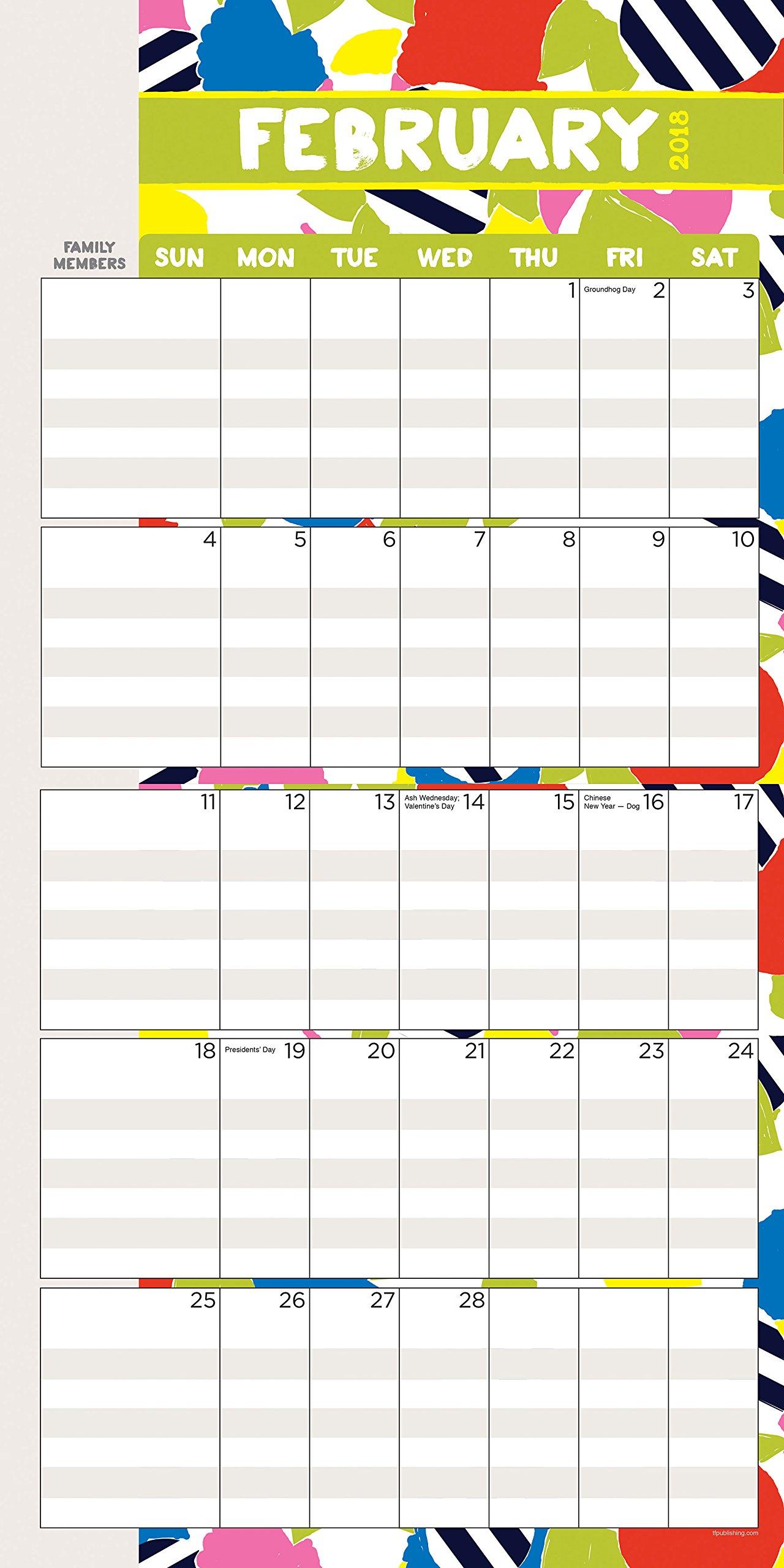 2018 Mom's Manager Large Grid Planning Wall Calendar: TF Publishing:  9781683750963: Amazon.com: Books
