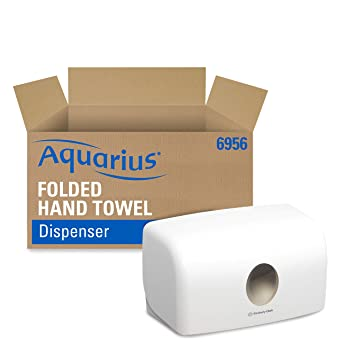 Aquarius 6956 Dispensador de Toallas Secamanos, Blanco