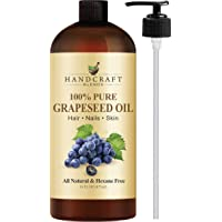 Handcraft Pure Grapeseed Oil - 100% Pure and Natural - Premium Therapeutic Grade...