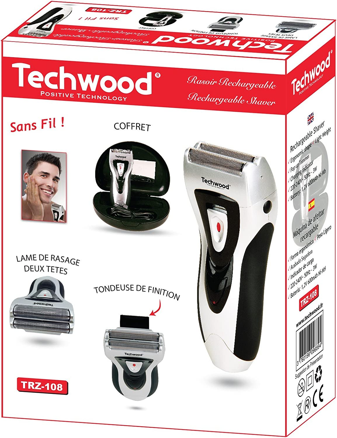 Techwood – Afeitadora recargable – trz-108: Amazon.es: Salud y ...