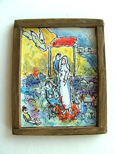 OOAK 1/12 Maison De Poupées Original La Peinture - Marc Chagall - La ...