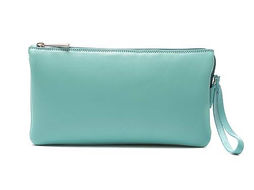 Bolso Bandolera mujer marca española Ginok – También como Bolso de Mano de piel elegante, calidad premium -