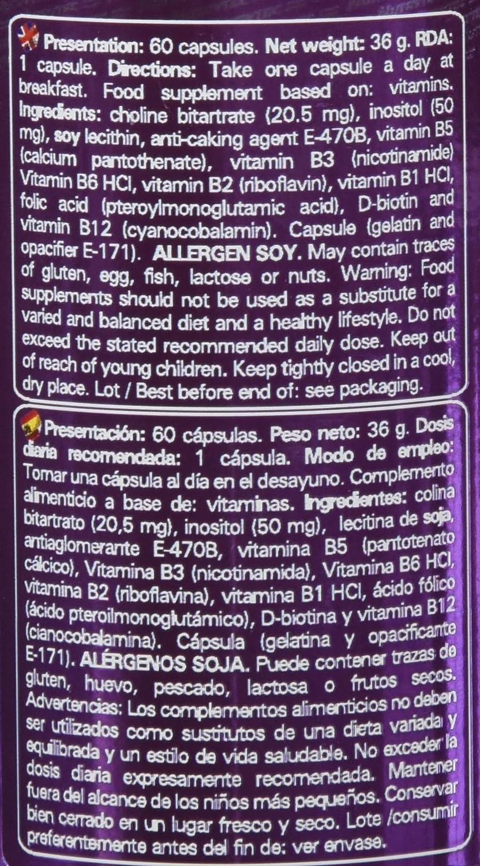 Nutrytec Vitamin B-Complex Platinum - 60 Cápsulas: Amazon.es: Salud y cuidado personal