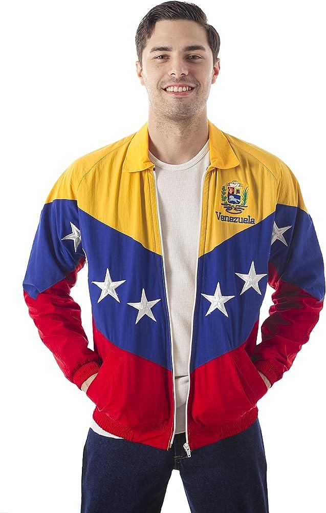 23 - 48 Chaqueta Tricolor DE LA Bandera DE Venezuela (S): Amazon.es: Ropa y accesorios