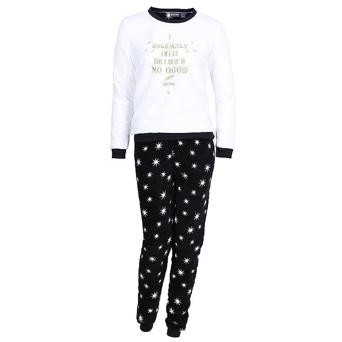 Harry Potter - Pijama - para Mujer Blanco Blanco S