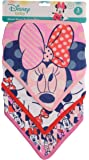 Disney Minnie Mouse 3 Piece Bandana Bibs, Pink Minnie Mouse